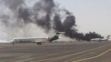 Photo of مقاتلات التحالف تغير على مطار صنعاء الدولي